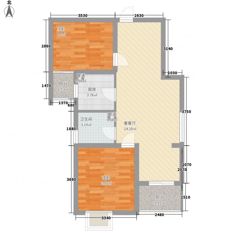 新凯家园80.00㎡新凯家园2室户型2室