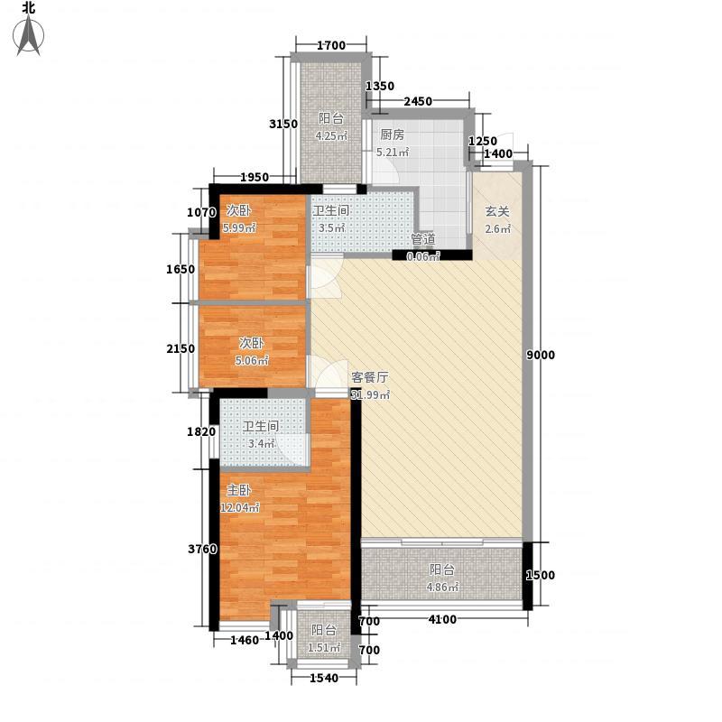 英郡年华一期户型图4栋C、D户型 3室2厅2卫