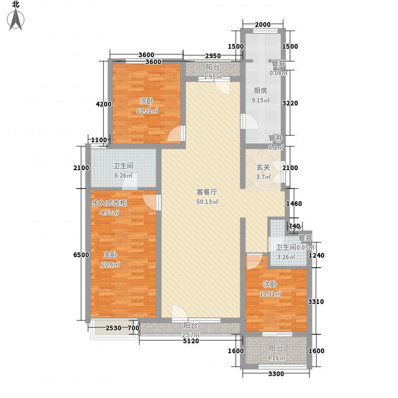 金隅翡丽・蓝爵堡15.00㎡三期1、2号楼C4户型3室2厅2卫1厨