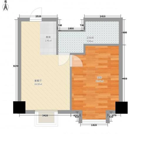 长城珑湾1室1厅1卫0厨50.00㎡户型图