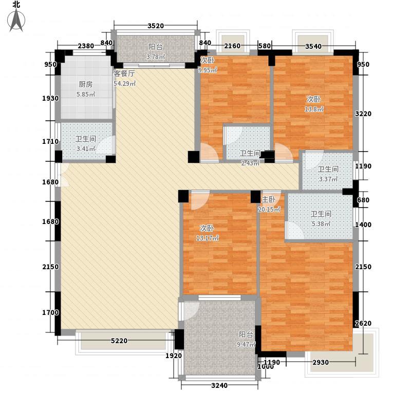 颐和山庄12.18㎡颐和苑8幢02户型4室2厅4卫