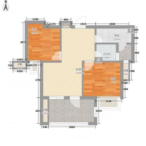 大东门商业步行街2室0厅1卫1厨63.00㎡户型图