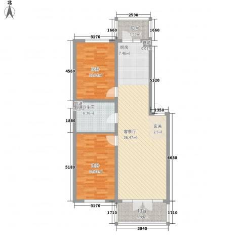鑫都嘉园2室1厅1卫0厨112.00㎡户型图