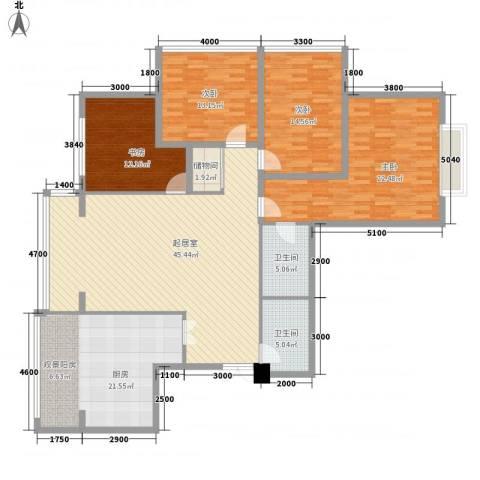恒祥家园4室0厅2卫1厨196.00㎡户型图