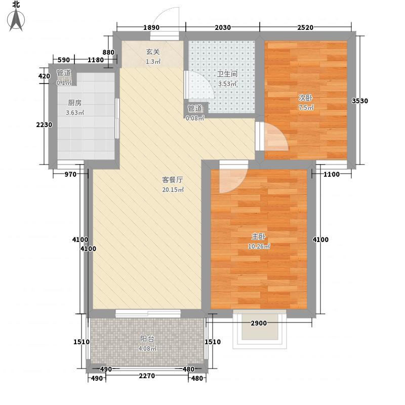 坤泽-翰林华府71.85㎡坤泽-翰林华府户型图E1户型2室2厅1卫1厨户型2室2厅1卫1厨