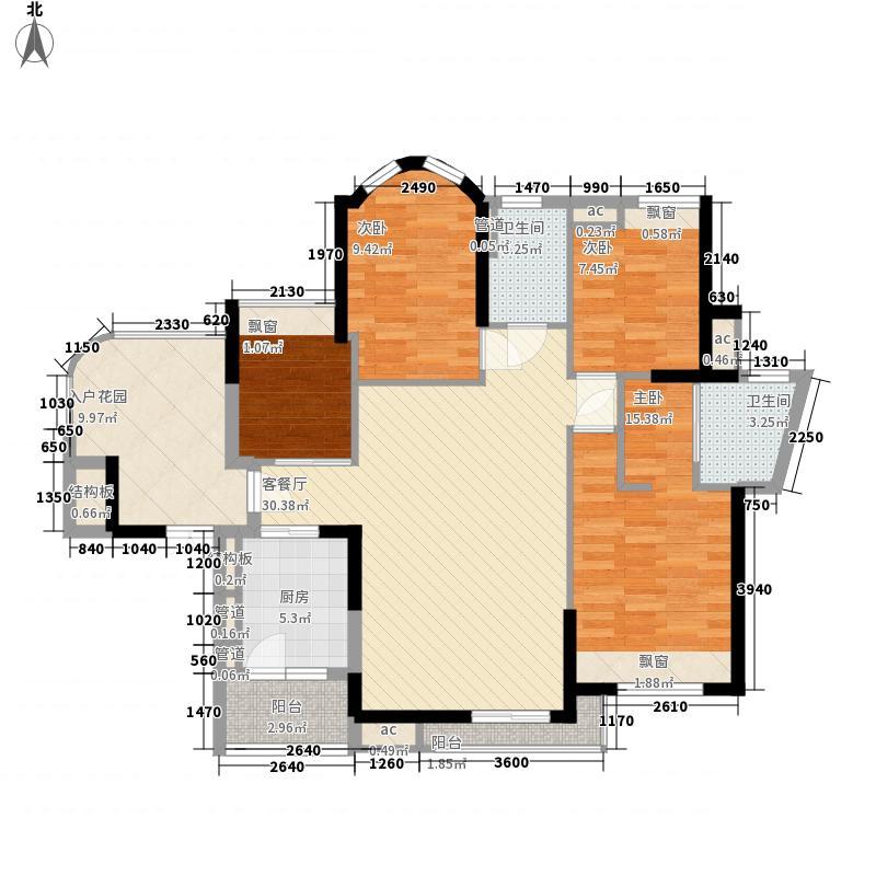 广园东东方名都142.48㎡广园东东方名都户型图5座02、7座02单元4室2厅2卫户型4室2厅2卫