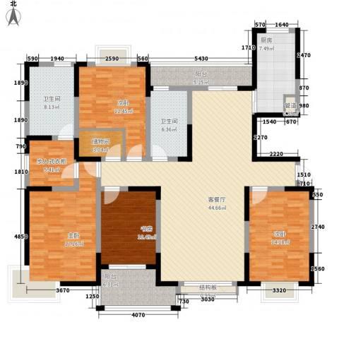和美第4室1厅2卫1厨179.00㎡户型图
