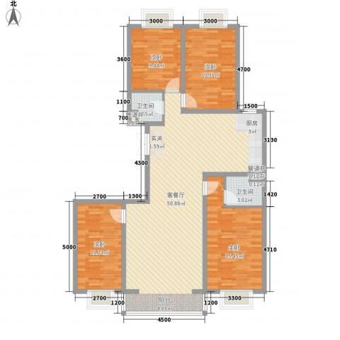 黄金海岸4室1厅2卫0厨149.00㎡户型图