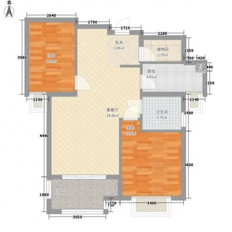 联谊广场2室1厅1卫1厨92.00㎡户型图