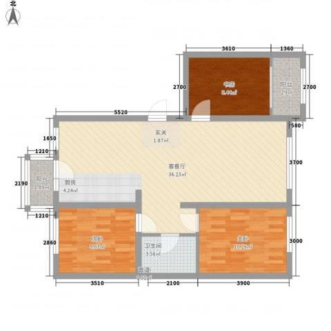 阳光乘风新城3室1厅1卫0厨117.00㎡户型图