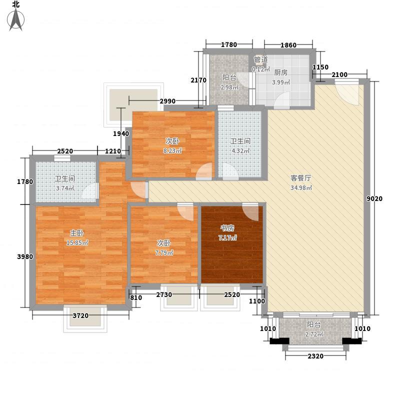鹿茵翠地鹿茵翠地4室户型4室