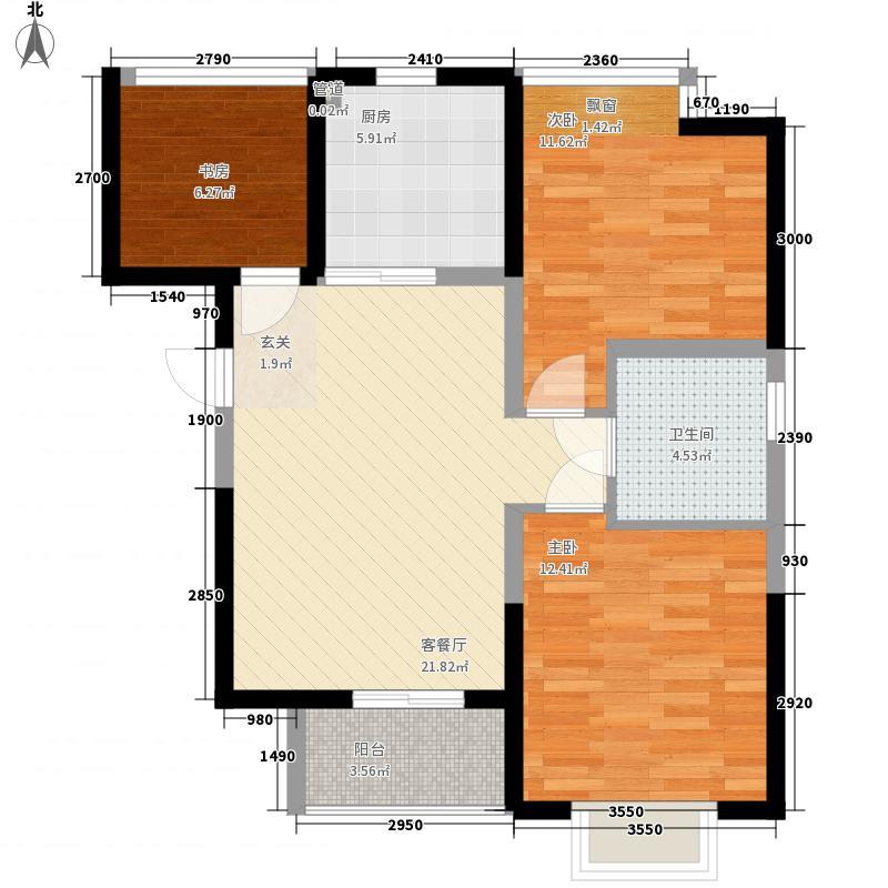兴园6.00㎡小区户型2室