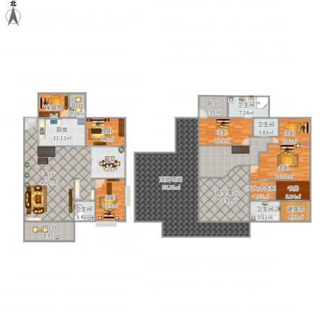 君临宝邸5室1厅4卫1厨359.00㎡户型图