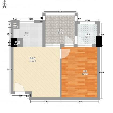 博鳌・白马郡1室1厅1卫0厨64.00㎡户型图