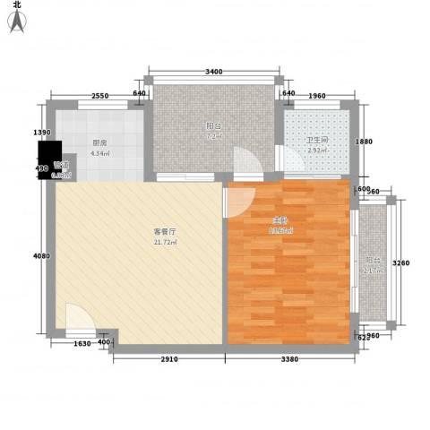 博鳌・白马郡1室1厅1卫0厨47.71㎡户型图