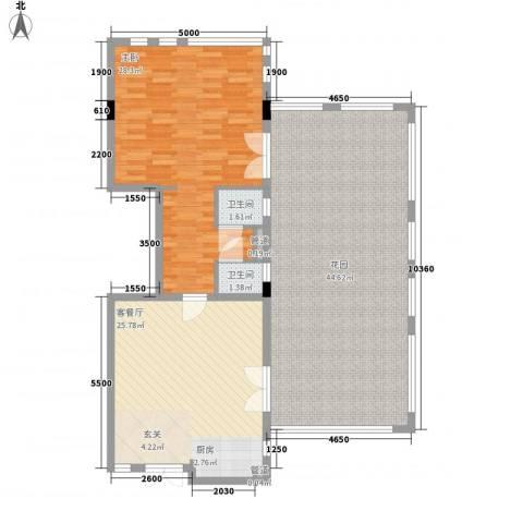 官塘御泉庄1室1厅2卫0厨101.94㎡户型图