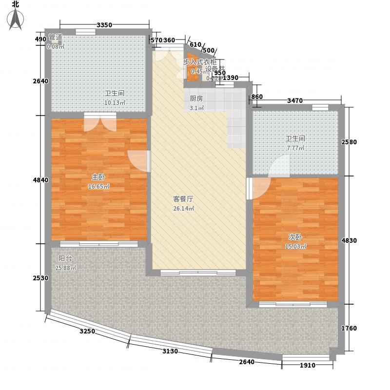 中信泰富神州半岛144.00㎡中信泰富神州半岛户型图星悦海岸2-5#楼B2室2厅2卫1厨户型2室2厅2卫1厨