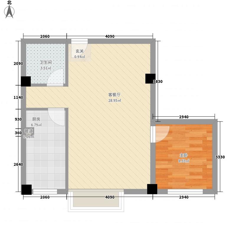 王家湾功臣楼48.00㎡王家湾功臣楼1室户型1室