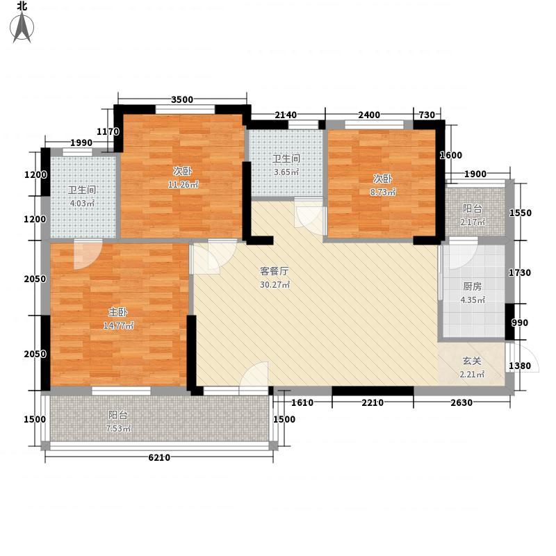 巢上城110.00㎡二期1、2、4#楼C2户型