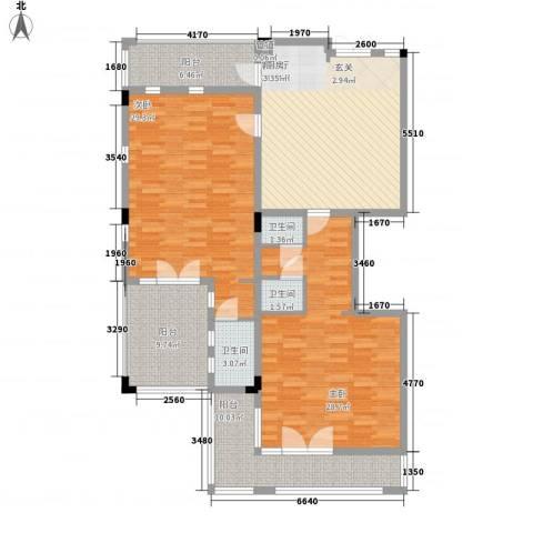 官塘御泉庄2室1厅3卫0厨135.00㎡户型图