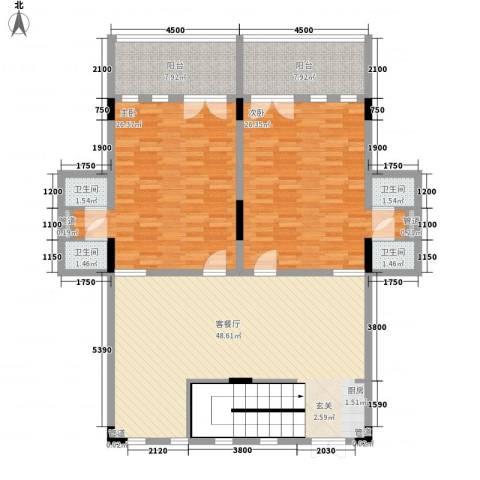 官塘御泉庄2室1厅4卫0厨123.63㎡户型图