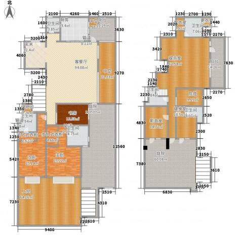 富力十号3室1厅6卫1厨550.06㎡户型图