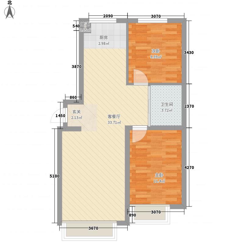 恒盛美景一期3号楼标准层C户型