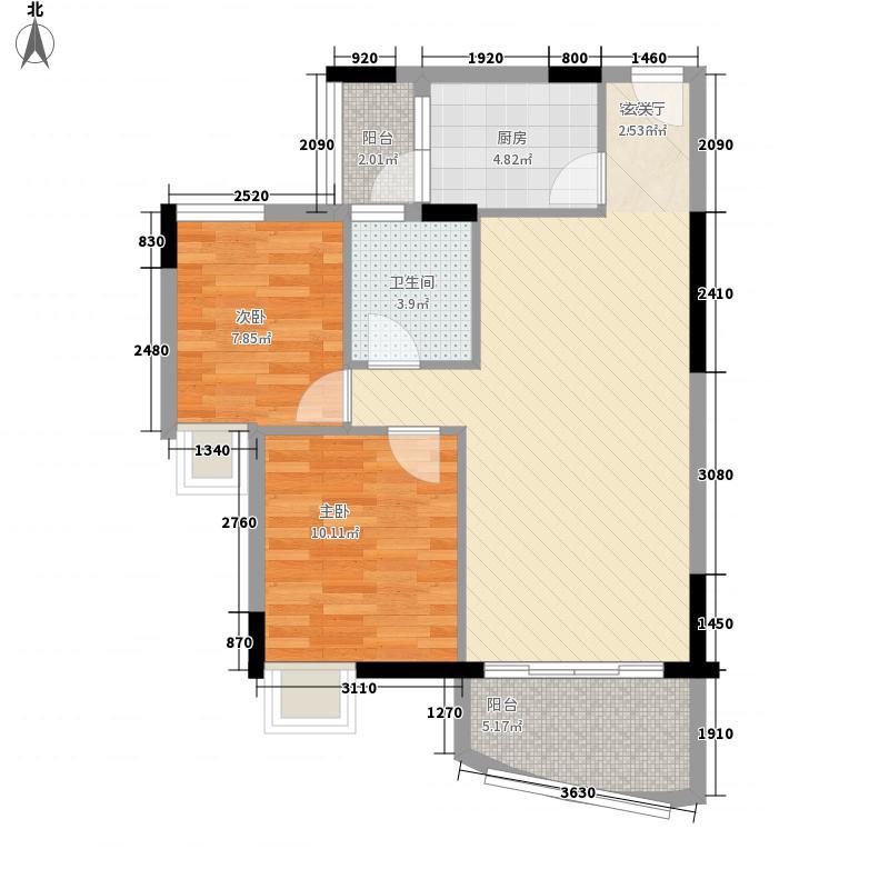 水云间76.00㎡D户型2室2厅