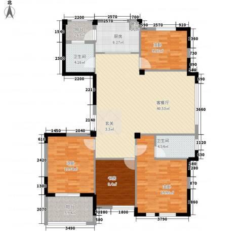 隆兴峰景苑4室1厅2卫1厨157.00㎡户型图
