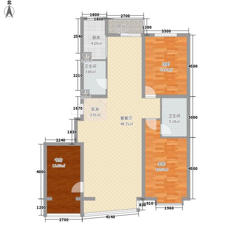 里人居一期92.00㎡里人居一期3室户型3室