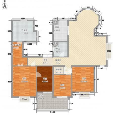 山语银城4室1厅2卫1厨180.00㎡户型图