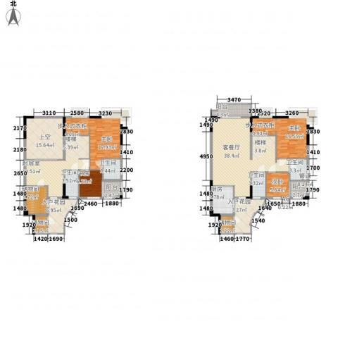 石竹山水园四期4室1厅4卫1厨248.00㎡户型图