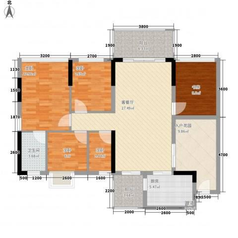 忠信春满园5室1厅1卫1厨136.00㎡户型图