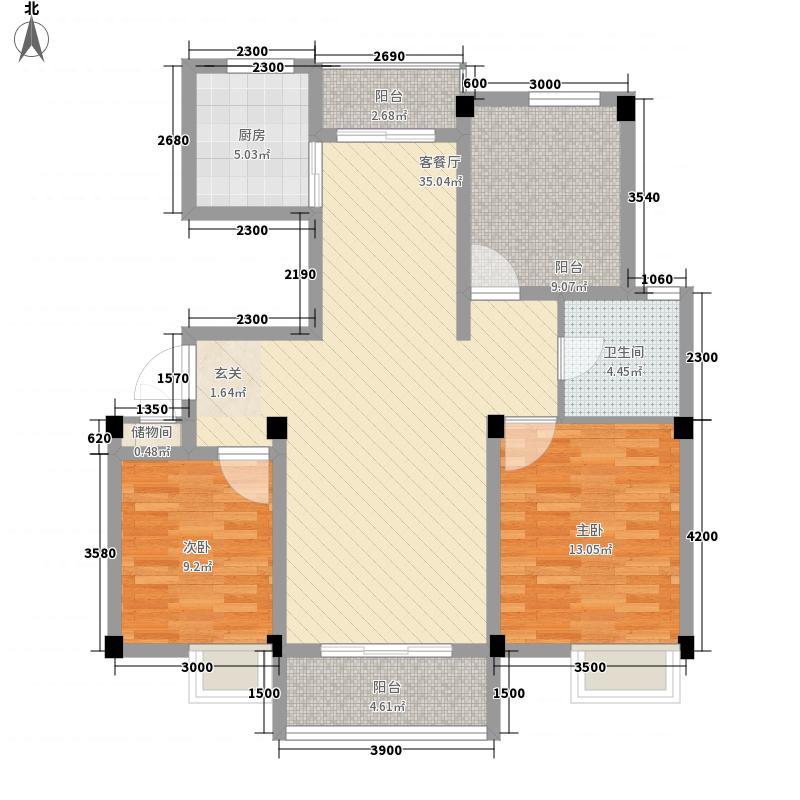 集美大学湾8.00㎡户型2室