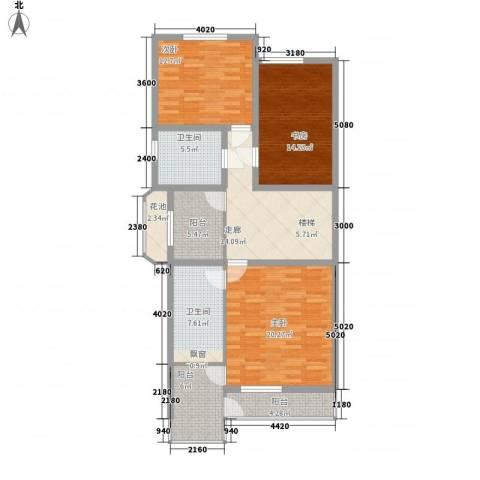 金玉良园3室0厅2卫0厨132.00㎡户型图