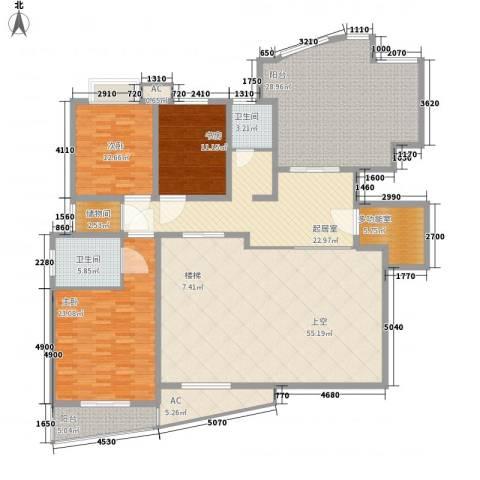 金色比华利3室0厅2卫0厨255.00㎡户型图