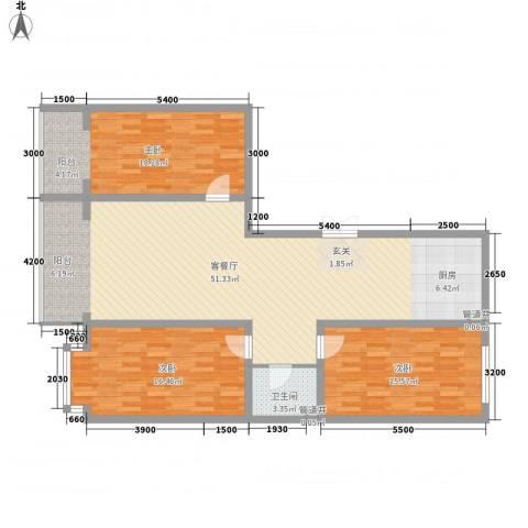 金华学府3室1厅1卫0厨147.00㎡户型图