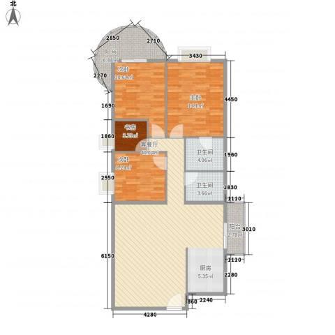罗宾森广场4室1厅2卫0厨128.00㎡户型图