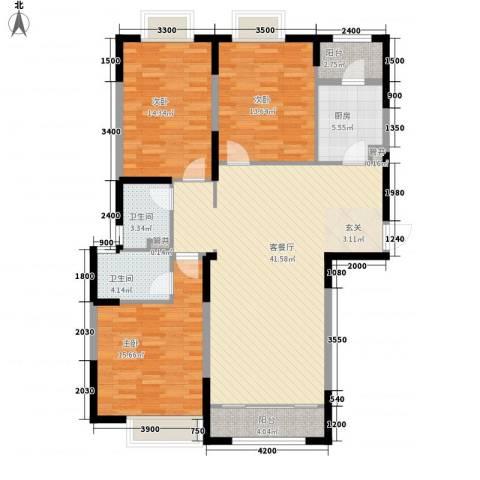 颐和观海3室1厅2卫1厨148.00㎡户型图