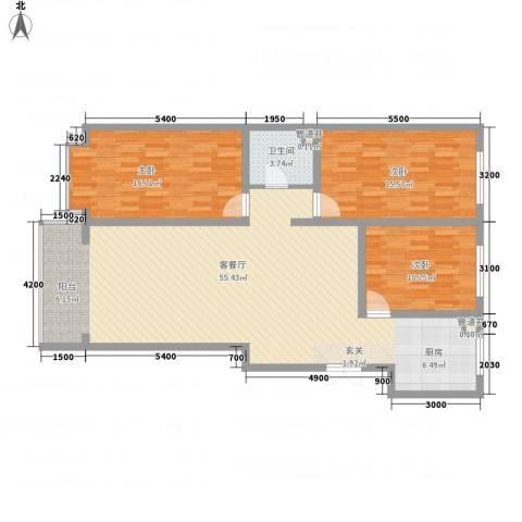 金华学府3室1厅1卫0厨143.00㎡户型图