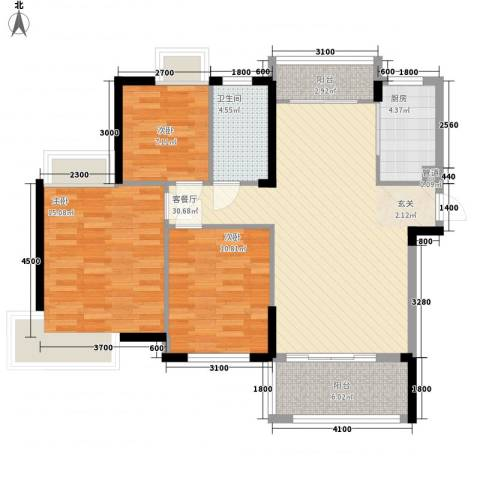 联谊广场3室1厅1卫1厨115.00㎡户型图