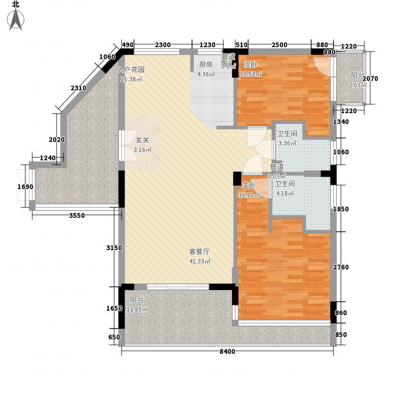 君恒雅居97.69㎡君恒雅居户型图二房户型图2室2厅2卫户型2室2厅2卫