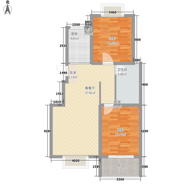 东方御景93.27㎡东方御景户型图三居室3室户型3室