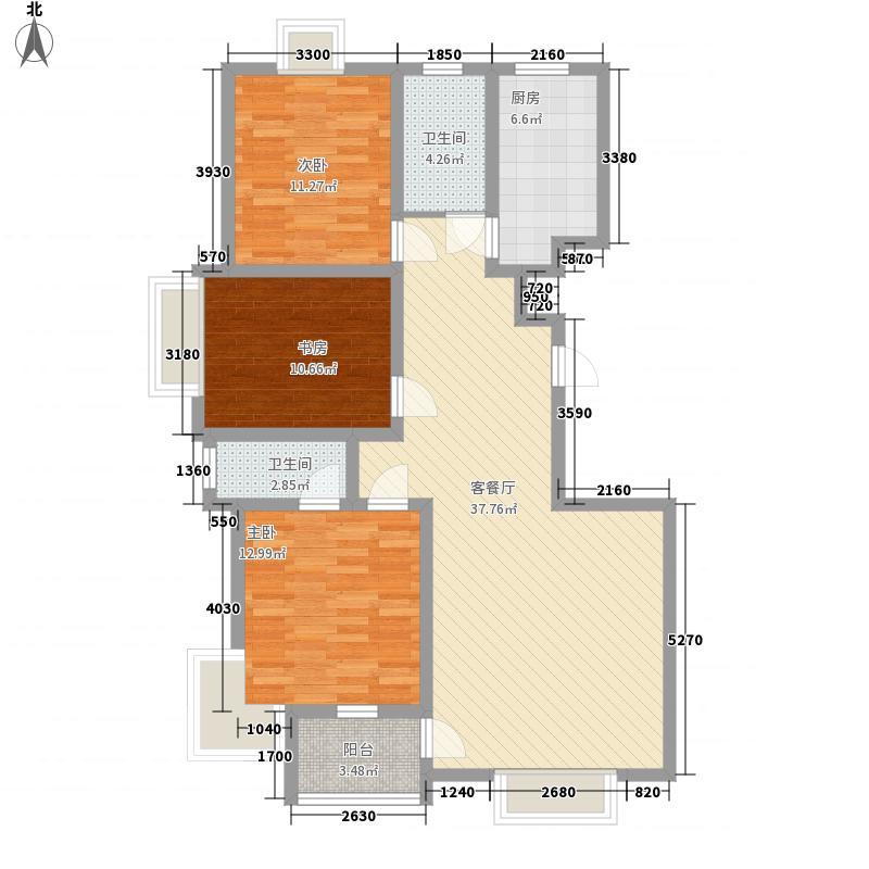 尚文苑13.00㎡38#39#楼标准层A户型3室2厅2卫1厨