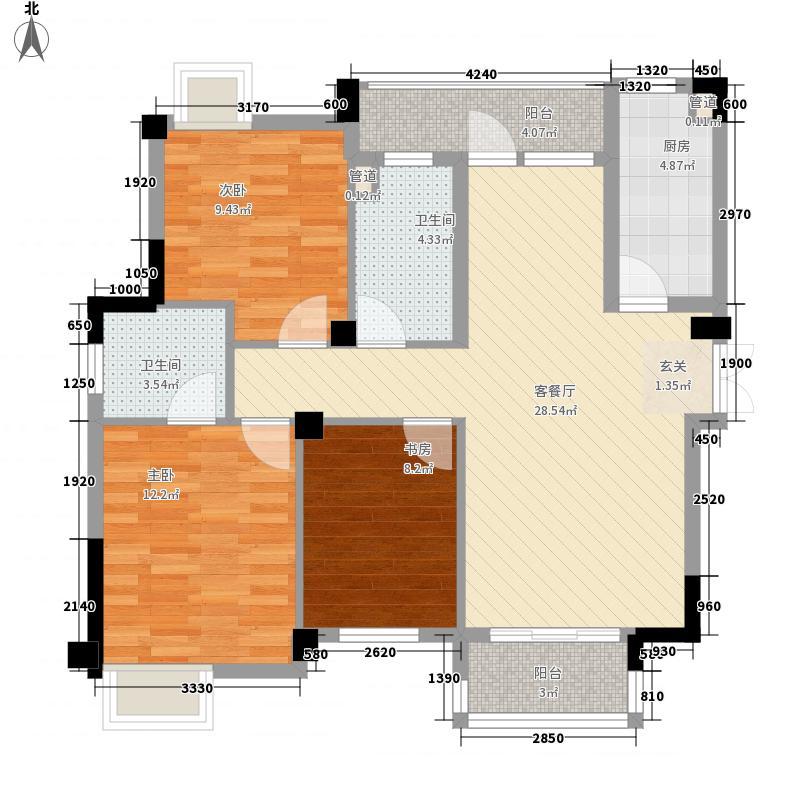 恒泰阿奎利亚113.00㎡8#11#标准层户型