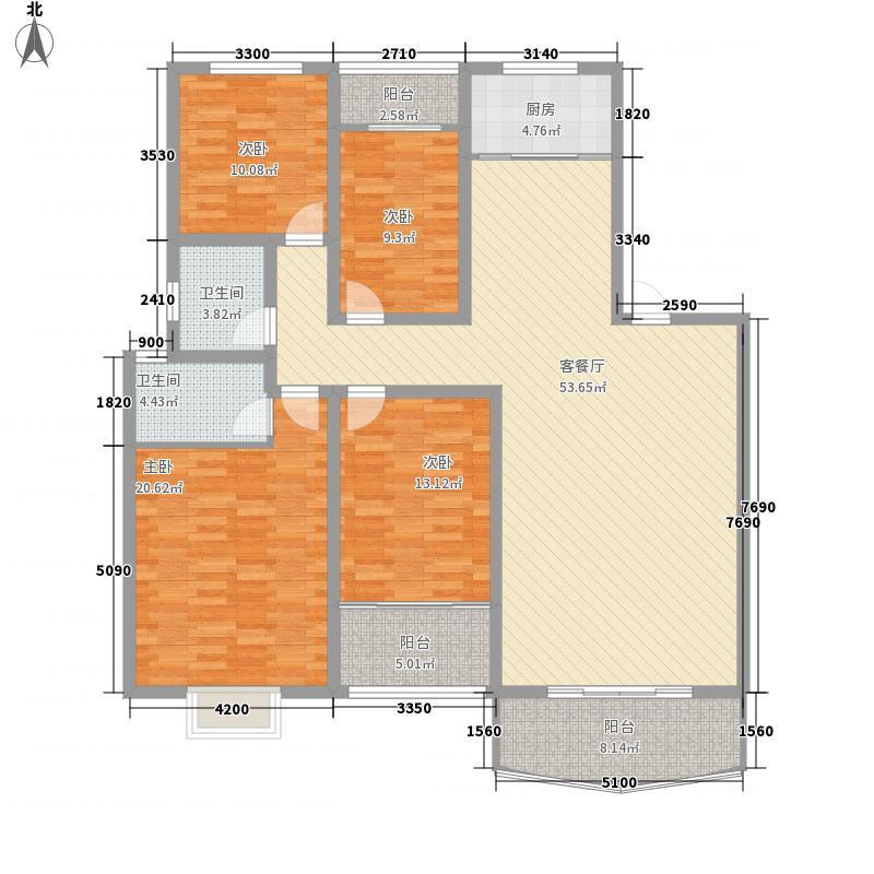 建政小区4jpg户型4室2厅2卫1厨