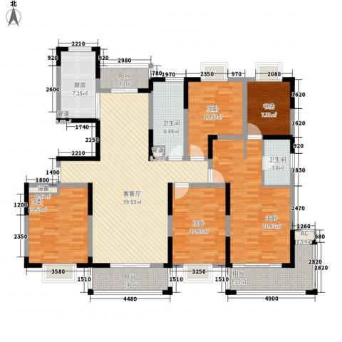 和美第5室1厅2卫1厨198.00㎡户型图