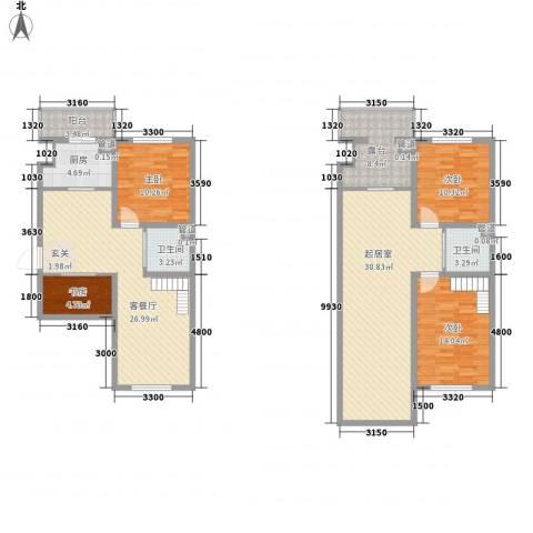 澜山溪谷4室1厅2卫1厨120.73㎡户型图