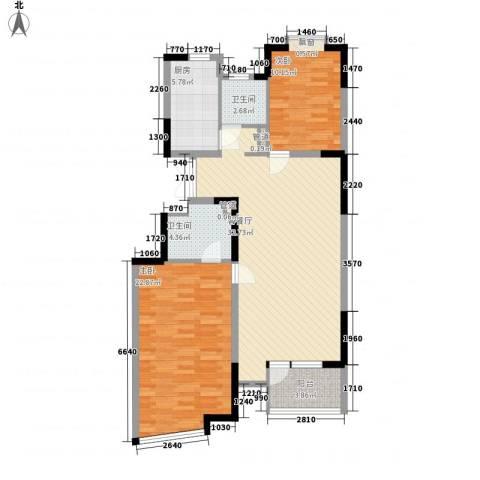 蝶庄2室1厅2卫1厨114.00㎡户型图