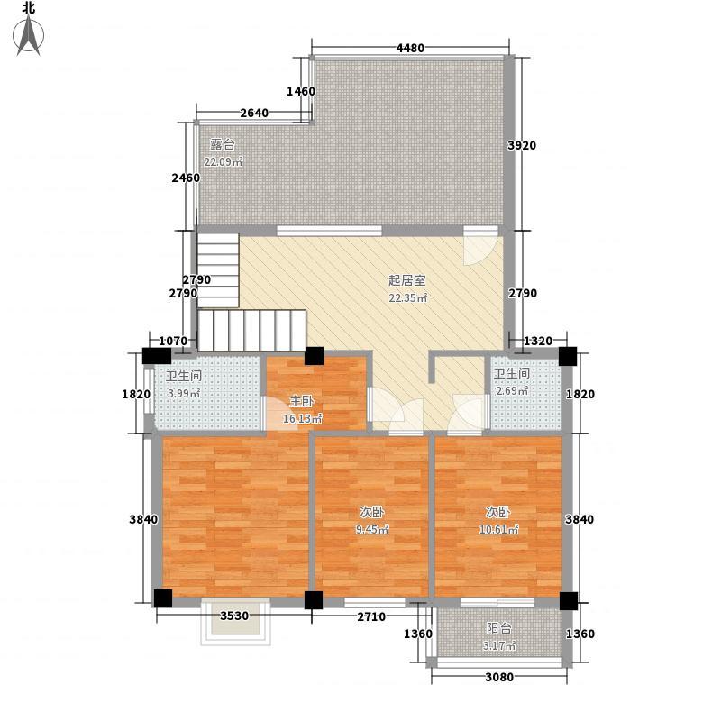 柚都港湾126.54㎡5、7#复式楼户型3室1厅2卫1厨